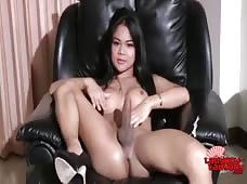 Ladyboy Cartoon Strokes Huge Dick Movie