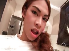Ladyboy Teen Kitty has a Curved Cock Surprise for You