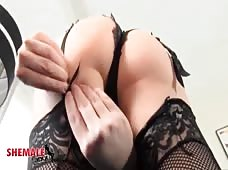 Korra Del Rio's Amazing Tranny Ass In Sexy Lingerie