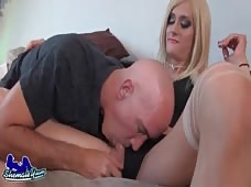 Mia Davina Relaxes With Her Dick In A Guy's Mouth