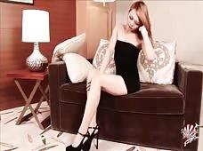 Megumi Black Dress Newhalf Babe