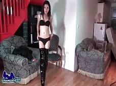 Hot Shemale Babe Mary Jane From The UK Stroking Her Sexy Cock