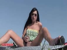 Alicia Del Rio Pulls Her Tranny Cock Out At A Picnic