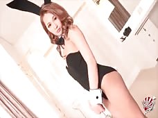 Bunnygirl Beni Sisaki Costume Playing With Hard Shemale Cock