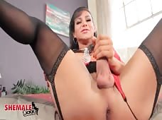 Jaquelin Braxton's Big Hard Tranny Cock is Ready to Ream You