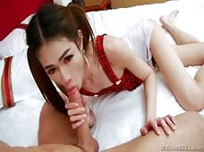 Pink Gaping Anus Of Petite Ladyboy New Bareback Fucked