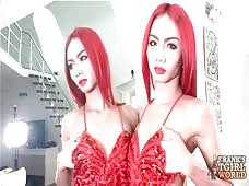 Sexy Red Head Ladyboy Enjoy