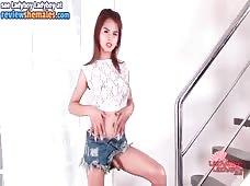 Sexy Jean Shorts Ladyboy Ally